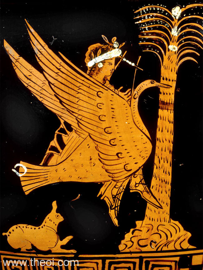 Apollo riding swan | Athenian red-figure bell krater C4th B.C. | British Museum, London