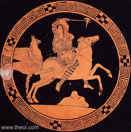 Griffin and Arimaspian | Athenian red-figure kylix C4th B.C. | Museum of Fine Arts Boston